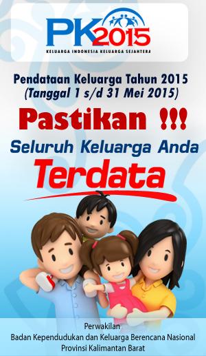 Pendataan Keluarga 2015 Provinsi Kalimantan Barat