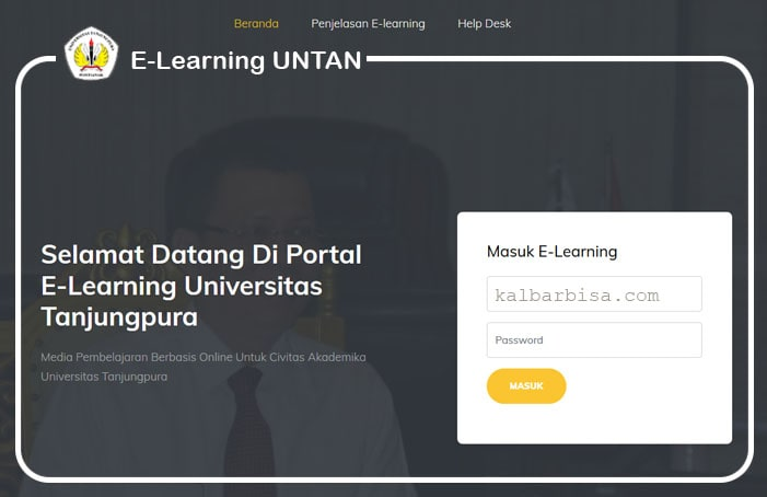 Layanan e-Learning Untan