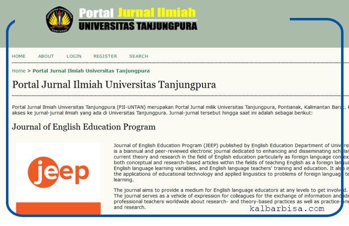 Portal jurnal ilmiah Universitas Tanjungpura