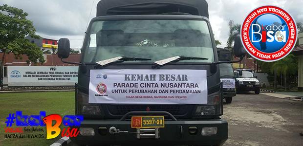 Parade Cinta Nusantara untuk Perubahan dan Perdamaian #kalbarBisa