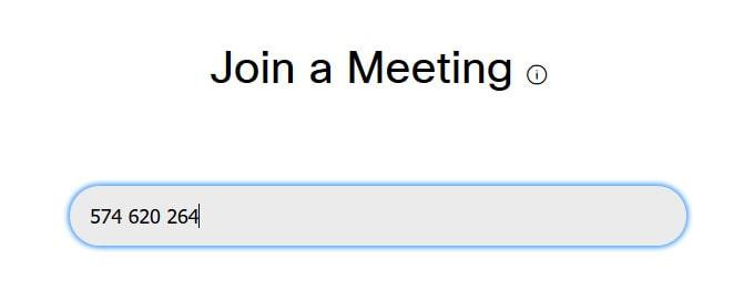 masukan meeting number