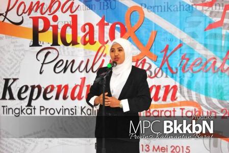 salah satu peserta lomba pidato